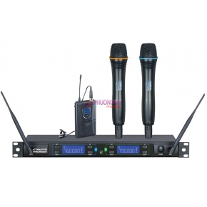 IDOLpro UHF-388 Professional Dual Wireless Infrared Microphone System