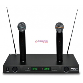 IDOLpro VHF-269 Dual Rechargeable Wireless Karaoke Microphone /w Individual Volume Control